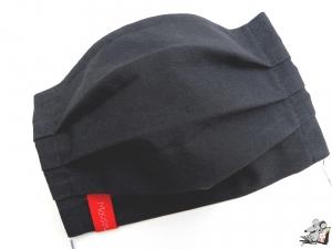 Behelfsmaske mit biegsamen Nasenteil waschbar 100% Baumwolle Gesichtsmaske *business* anthrazit ♥Mäusewerkstatt♥ - Handarbeit kaufen
