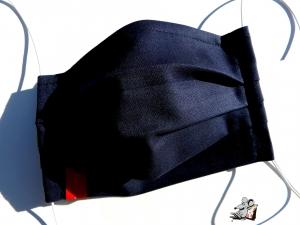 Behelfsmaske mit biegsamen Nasenteil waschbar 100% Baumwolle Gesichtsmaske *business* dunkelblau ♥Mäusewerkstatt♥ - Handarbeit kaufen