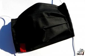 Behelfsmaske mit biegsamen Nasenteil waschbar 100% Baumwolle Gesichtsmaske *business* schwarz ♥Mäusewerkstatt♥ - Handarbeit kaufen
