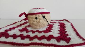 Süßes Schmusetuch für Babys mit Pirat als Seelentröster