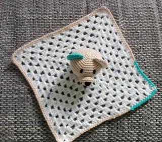 Süßes geschlechtsneutrales Schmusetuch mit Bär, 100% Baumwolle
