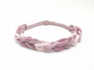 Halskette Rosa Traum Schlingen Seide Cotton Unikat Handmade