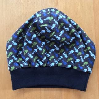 Mütze Fischgräte blau Gr. 55