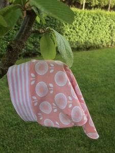 Kopftuch für kleine Mädchen lachsfarben ☀️