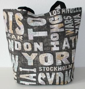 Strandtasche / Umhängetasche ★ Städtenamen ★ Große Tasche aus festem Canvasstoff