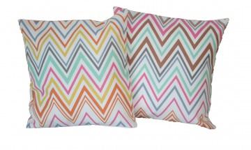 Kissenbezüge 40 x 40 cm, 2er Pack, Geometrische Formen