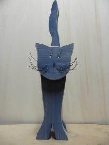 Katze klein aus Fichtenholz