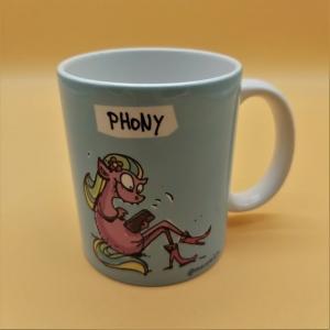 Kaffeetasse aus Keramik Motiv Aufschrift PHONY