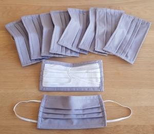 Stoff-Behelfsmundschutz uni oder mit Muster