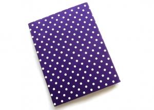 Milo-Schaly  Organizer A4 Schreibmappe Ordner Ringbuch lila weiß dots Ringbuchordner Punkte Filz vegan B-Ware - Handarbeit kaufen