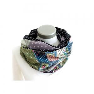 Milo-Schaly Loop Schal Damen Patchwork 4+ Varianten Baumwolle Punkte grün grau Loopschal Wendeschal (Kopie id: 100242780) (Kopie id: 100242781) - Handarbeit kaufen