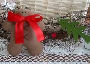 Girlande Weihnachten Türdeko Lebkuchenmann Tannenbaum Advent Weihnachtsdeko - Handarbeit kaufen