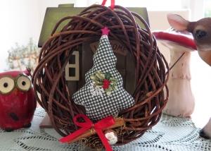 Türkranz Weihnachten Tannenbaum Advent grün bunt Weihnachtsdeko Winter  - Handarbeit kaufen