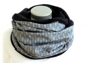 Milo-Schaly Loop Damen grau Pfeile Fleece Kuschelschal Loopschal Schlauchschal - Handarbeit kaufen