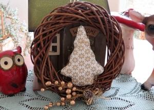 Türkranz Weihnachten weiß goldfarben Tannenbaum Advent Weihnachtsdeko Winter    - Handarbeit kaufen