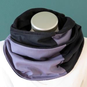 Milo-Schaly Loopschal Loop Schal Herren Schlauchschal Fleece schwarz grau Männer Herrenscha  - Handarbeit kaufen