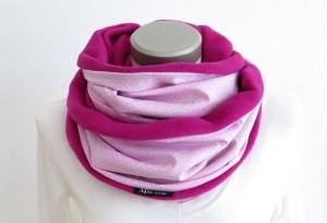 Milo-Schaly Loop Baumwolle rosa pink Fleece Baumwollfleece Schal Damem Kuschelschal - Handarbeit kaufen