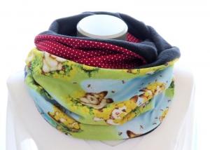 Milo-Schaly Loopschal Damen Häschen Einzelstück Fleece Loop Schal Kuschelschal - Handarbeit kaufen