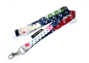 Milo-Schaly Schlüsselband lang bunt Patchwork Karabiner Einzelstück Schlüsselanhänger Blumen   - Handarbeit kaufen