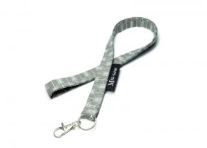 Milo-Schaly Schlüsselband lang Pfeile grau weiß Karabiner Schlüsselanhänger  - Handarbeit kaufen