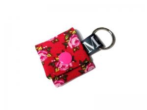 Milo-Schaly Einkaufswagenchip Täschchen Schlüsselanhänger mit Chip Rosen rot rosa Chiptäschchen - Handarbeit kaufen