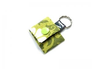 Milo-Schaly Einkaufswagenchip Täschchen Schlüsselanhänger mit Chip grün Chiptäschchen - Handarbeit kaufen