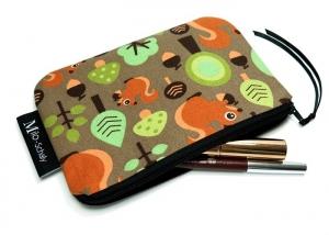 Milo-Schaly Kosmetiktasche Eichhörnchen Wald Schminktäschchen Krimskrams Täschchen Kosmetiktäschchen - Handarbeit kaufen