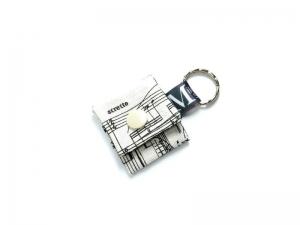 Milo-Schaly Einkaufswagenchip Täschchen Musiknoten beige schwarz Schlüsselanhänger mit Chip  Chiptäschchen Musiker Noten - Handarbeit kaufen