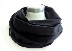 Milo-Schaly Loop Schal uni schwarz Damen Baumwolle Loopschal unisex - Handarbeit kaufen