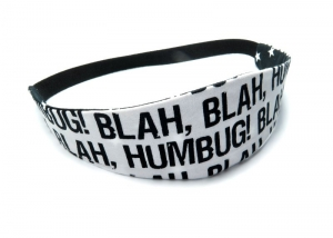 Milo-Schaly Haarband zum Wenden Stirnband weiß schwarz BLAH BLAH Wendehaarband Abschminkband Sterne - Handarbeit kaufen