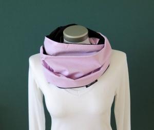 Milo-Schaly Loop Schal Damen Baumwolle Punkte rosa weiß schwarz Loopschal Wendeschal  - Handarbeit kaufen