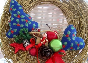 Türkranz Kranz goldfarben blau rot Weihnachten Deko - Handarbeit kaufen