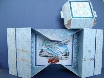 Geburtstagskarte *Schachtelkarte* oder als Gutschein für eine Reise für alle