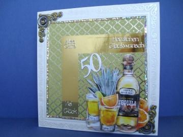 Geburtstagskarte zum 50 für einen Mann