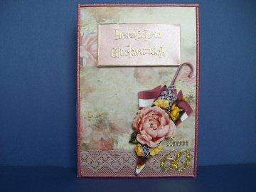 Geburtstagskarte vintage zum 60 für eine Frau
