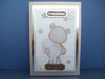 Glückwunschkarte zur Geburt eines Mädchen oder Jungen