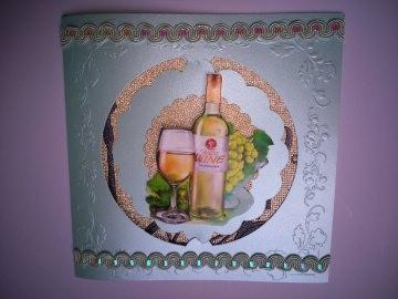 Geburtstagskarte zum 60 für einen Mann für einen Weinliebhaber - Handarbeit kaufen