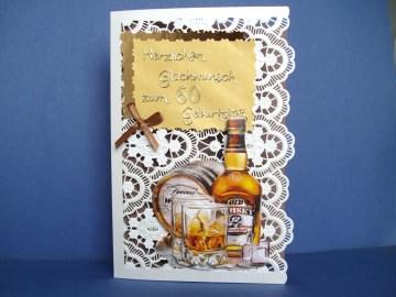 Geburtstagskarte für einen Mann zum 60.ten für Whiskyliebhaber
