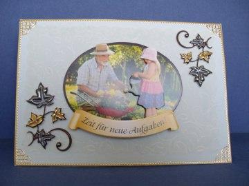 Glückwunschkarte zum Ruhestand für einen Mann in mintrün - Handarbeit kaufen