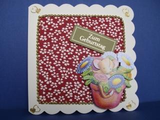Geburtstagskarte für Mädchen und Frauen mit einer Haselmaus