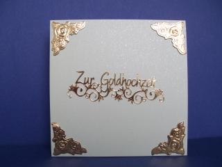 Glückwunschkarte zur goldenen Hochzeit - Handarbeit kaufen