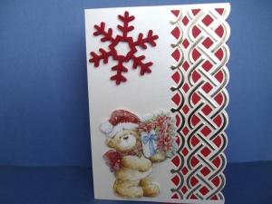 Weihnachtskarte mit Teddybären