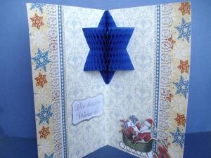 Weihnachtskarte mit Wabenmotiv