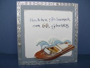 Geburtstagskarte für einen Mann zum 60 maritim