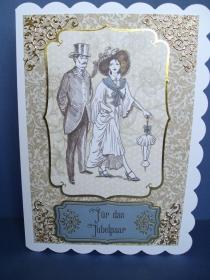 Hochzeitskarte zur goldenen Hochzeit - Handarbeit kaufen