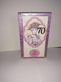 Geburtstagskarte zum 70. ten mit einem nostalgischen Frauenmotiv - Handarbeit kaufen
