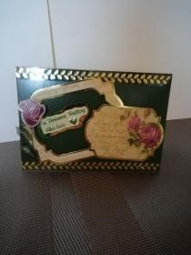 Geburtstagskarte in grün für eine Frau  - Handarbeit kaufen