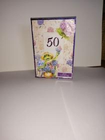 Geburtstagskarte zum 50.ten für eine Frau - Handarbeit kaufen