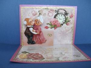 Glückwunschkarte zur goldenen Hochzeit mit Hochzeitspaar