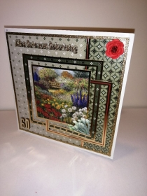 Geburtstagskarte zum 60.ten für eine Frau mit Blumenmotiven